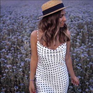 Zara polka dot slip dress NWT
